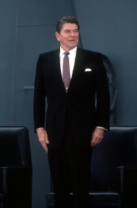 Ronald Reagan, the 40th President of the United States. image source: commons.wikimedia.org