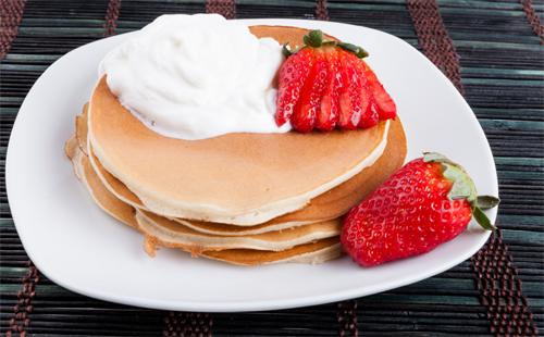 mmmm, loving my breakfast #breakingthefast #ilovepancakes #NomNomNom