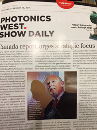 Canada may increase its focus on lens and photonics technologies