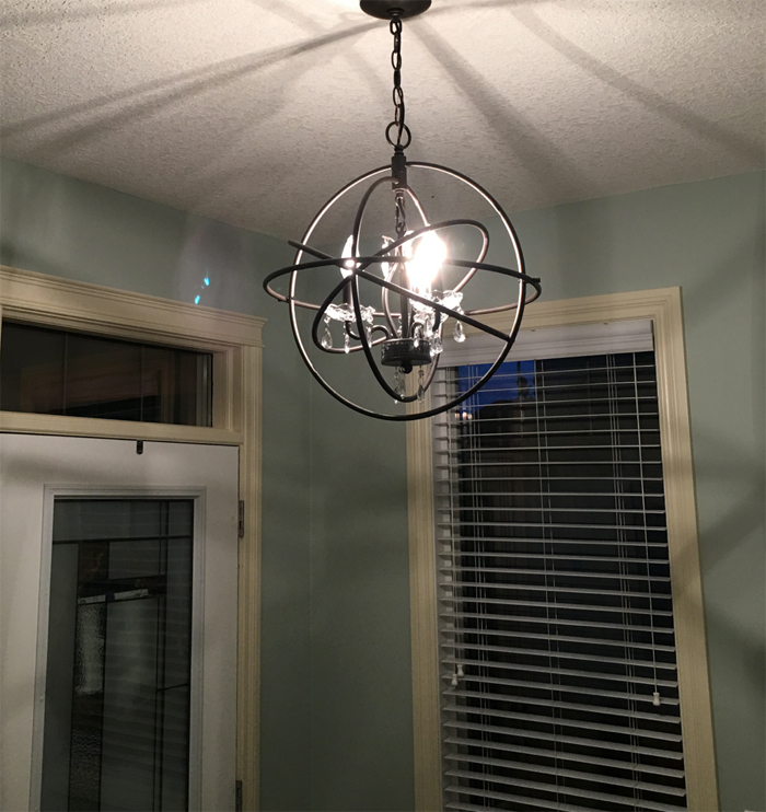 Change light fixtures for your house to dress it up